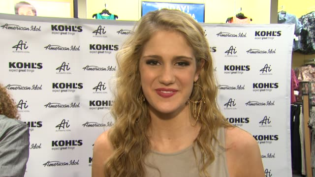 shannon magrane on why she is there fashion inspirations and best idol moment at american idol season 11 contestants appear at los angeles kohl's for... - american idol stock videos and b-roll footage