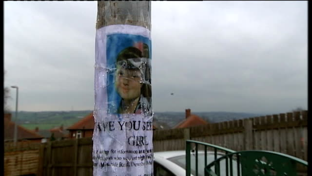 mother questioned by police various dates england yorkshire dewsbury ext sequence 'missing' poster for shannon matthews / police searching bushes /... - missing poster stock videos & royalty-free footage