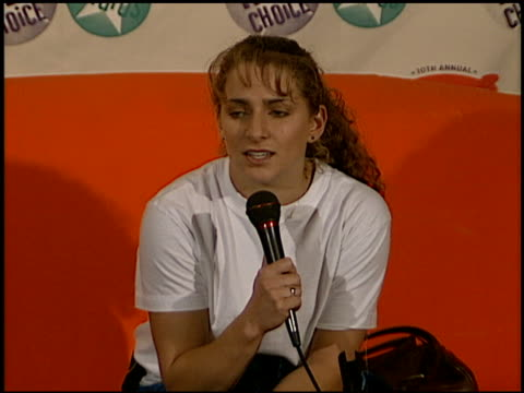 shannon miller at the 1997 nickelodeon kids' choice awards press room at grand olympic auditorium in los angeles california on april 19 1997 - nickelodeon kids' choice awards stock videos & royalty-free footage