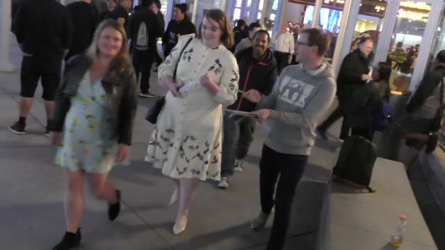 shannon purser outside the midsommar premiere at the arclight theatre in hollywood in celebrity sightings in los angeles - celebrity sightings stock videos & royalty-free footage