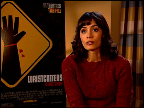 shannyn sossamon on her character in the film, and why she wanted to be a part of the project at the 'wristcutters: a love story' press junket at... - shannyn sossamon stock videos & royalty-free footage