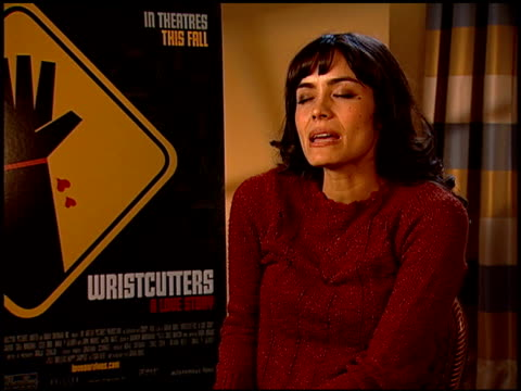 shannyn sossamon on what she wants the audience to take away from the film, and on critics' responses to the film at the 'wristcutters: a love story'... - shannyn sossamon stock videos & royalty-free footage