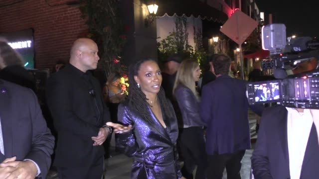 shanola hampton talks about g-eazy & halsey breaking up over nba playoffs outside avenue nightclub in hollywood in celebrity sightings in los angeles, - playoffs stock videos & royalty-free footage