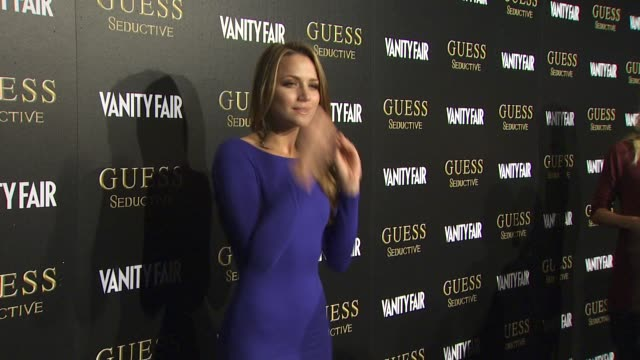shantel vansanten at the guess and coty beauty celebrate the worldwide launch of guess seductive fragrance at los angeles ca - launch event stock videos & royalty-free footage