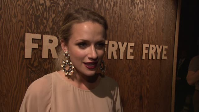 shantel vansanten on her character on one tree hill wearing frye boots at the the frye company flagship opening celebration at new york ny - one tree hill stock videos and b-roll footage