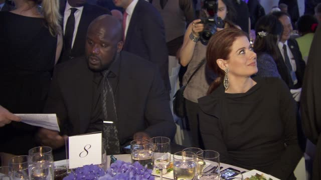 Shaquille O'Neal and Debra Messing at United Nations Every Woman Every Child Dinner 2012 at MOMA on September 25 2012 in New York New York