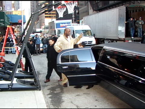 shaquille o'neal arrives at the david letterman show at the celebrity sightings in new york at new york ny. - shaquille o'neal stock videos & royalty-free footage