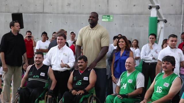 shaquille o'neal at shaquille o'neal tours monterrey, mexico on 8/18/12 in los angeles, ca - shaquille o'neal stock videos & royalty-free footage