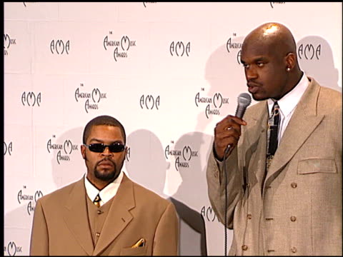 shaquille o'neal at the 1998 american music awards at the shrine auditorium in los angeles, california on january 26, 1998. - shaquille o'neal stock videos & royalty-free footage
