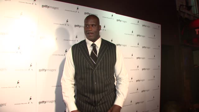 shaquille o'neal at the 2008 mlb all-star week - getty images and johnnie walker party at new york ny. - shaquille o'neal stock videos & royalty-free footage