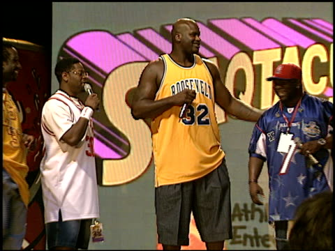 shaquille o'neal at the shaqtacular viii at barker hanger in santa monica, california on september 20, 2003. - shaquille o'neal stock videos & royalty-free footage