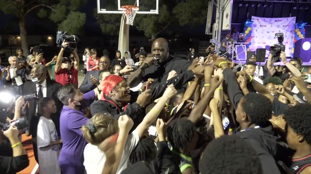 NV: Shaq Foundation & Icy Hot Unveil Shaq Courts at Doolittle For Vegas Community