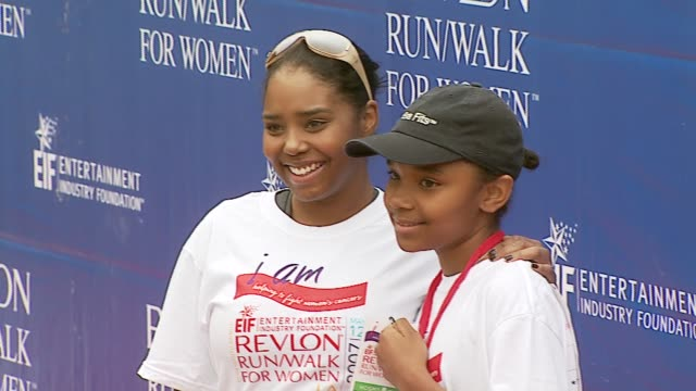 shar jackson at the revlon run/walk for women celebration of 14 years in los angeles at the los angeles memorial coliseum in los angeles, california... - revlon stock videos & royalty-free footage