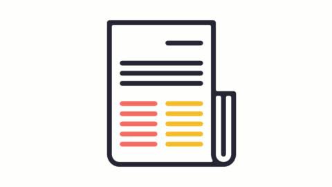 アルファ付きシート ・ レポート ライン アイコン アニメーションを共有します。 - paperwork点の映像素材/bロール