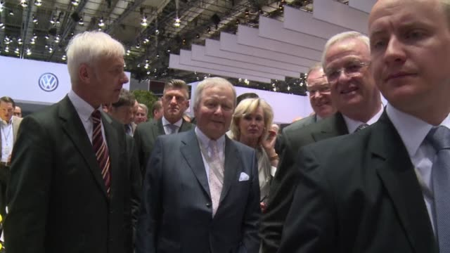 shareholders gathered in hanover in germany on tuesday for volkswagen's annual general meeting - annual general meeting stock videos & royalty-free footage