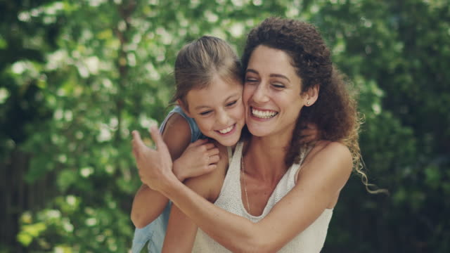 sharing a love of the outdoors with her daughter - embracing stock videos & royalty-free footage
