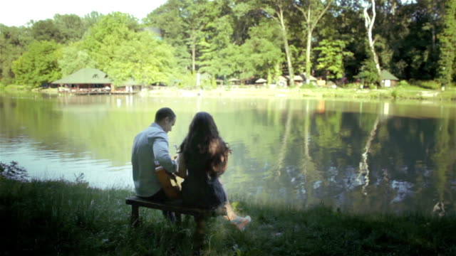 sharing an intimate moment of romance - engagement stock videos and b-roll footage