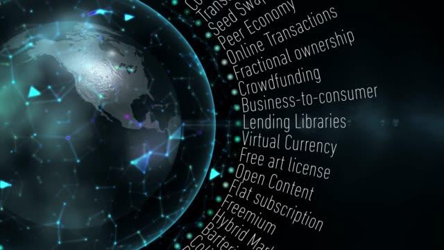経済用語を共有 - ピア・ツー・ピア点の映像素材/bロール