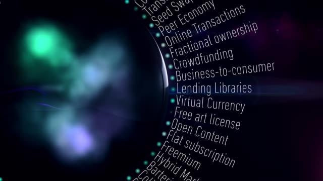 経済用語を共有 - サービス業関係の職業点の映像素材/bロール