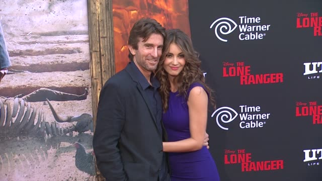 sharlto copley at the lone ranger los angeles premiere jerry bruckheimer and linda bruckheimer at the lo at disney california adventure park on june... - the lone ranger 2013 film stock videos and b-roll footage