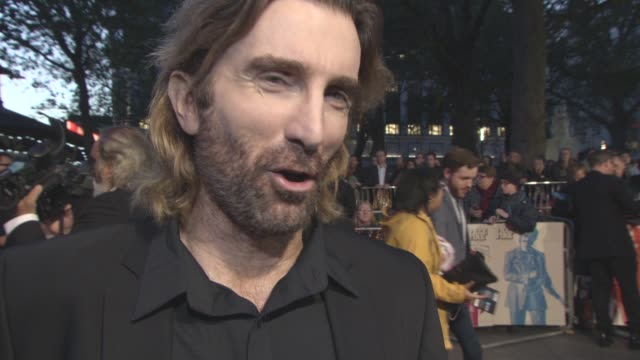 INTERVIEW Sharlto Copley on being friends with the cast after filming Brie Larson being one of the boys comic acting Ben Wheatley at LFF 'Free Fire'...