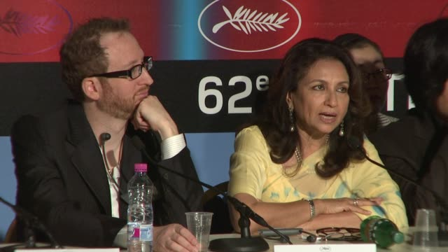 sharmila tagore on being on the censorship board in india and on whether this will influence her at the cannes film festival 2009 jury press... - censorship stock videos and b-roll footage