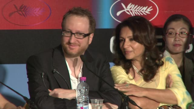 Sharmilla Tagore James Gray Asia Argento at the Cannes Film Festival 2009 Jury Press Conference at Cannes