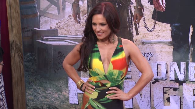 sharna burgess at the lone ranger los angeles premiere sharna burgess at the lone ranger los angeles pr at disney california adventure park on june... - the lone ranger 2013 film stock videos and b-roll footage