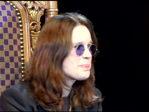 Sharon and Ozzy Osbourne discuss where he'd be if he weren't in Rock and Roll at the Unveiling of Signature Series TShirt with Ozzy and Sharon...