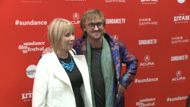 Sharon Anstey and Tom Felton at the 'Ophelia' Premiere 2018 Sundance Film Festival at Eccles Center Theatre on January 22 2018 in Park City Utah