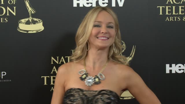 sharon case at the 2014 daytime emmy awards at the beverly hilton hotel on june 22, 2014 in beverly hills, california. - the beverly hilton hotel点の映像素材/bロール
