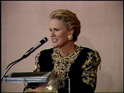 sharon gless at the 1991 golden globe awards at the beverly hilton in beverly hills, california on january 19, 1991. - sharon gless stock videos & royalty-free footage