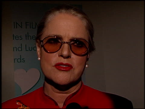 sharon gless at the women in film awards at the century plaza hotel in century city, california on september 20, 2002. - sharon gless stock videos & royalty-free footage