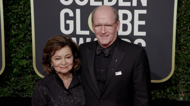 Sharon Jenkins and Richard Jenkins at the 75th Annual Golden Globe Awards at The Beverly Hilton Hotel on January 07 2018 in Beverly Hills California