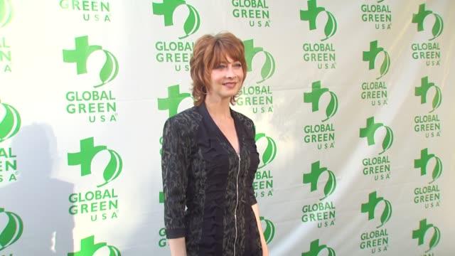 vídeos de stock, filmes e b-roll de sharon lawrence at the global green usa 14th annual millennium awards at santa monica ca - global green usa