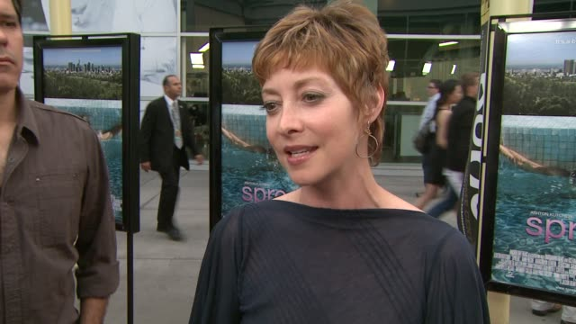 sharon lawrence on being a part of the night, what ashton kutcher brings to the screen, what she appreciates about anne heche at the 'spread'... - anne heche stock videos & royalty-free footage