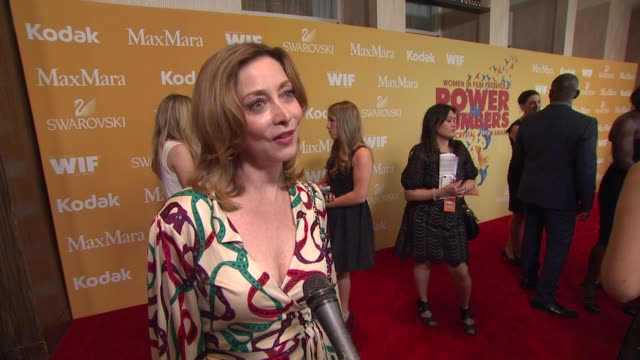sharon lawrence on why she wanted to celebrate wif her thoughts on this year's honorees and why it's important for woman to empower one another at... - the beverly hilton hotel stock videos & royalty-free footage