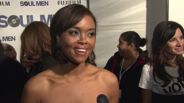 sharon leal on her role in the film, the experience of working with sam and bernie, how she got into the groove while filming and the feeling tonight... - バーニー マック点の映像素材/bロール