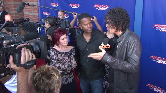 sharon osbourne and howard stern at america's got talent red carpet at new jersey performing arts center on july 02 2012 in newark new jersey - sharon osbourne stock videos & royalty-free footage