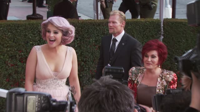 sharon osbourne and kelly osbourne at the 18th annual elton john aids foundation oscar party at west hollywood ca - sharon osbourne stock videos & royalty-free footage