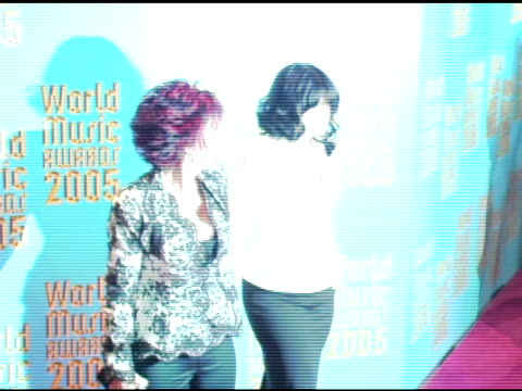 Sharon Osbourne and Kelly Osbourne at the 2005 World Music Awards arrivals at the Kodak Theatre in Hollywood California on September 1 2005