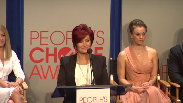 sharon osbourne announces the nominess at people's choice awards 2012 nominations announcement - people's choice awards stock videos & royalty-free footage