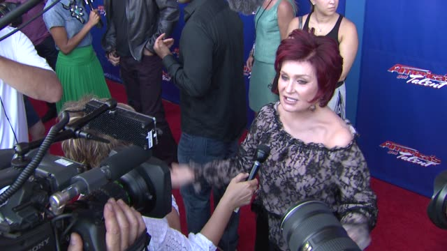sharon osbourne at america's got talent red carpet at new jersey performing arts center on july 02 2012 in newark new jersey - sharon osbourne stock videos & royalty-free footage