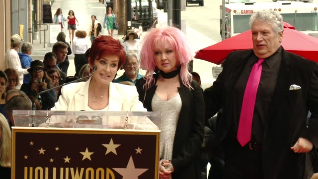 SPEECH Sharon Osbourne at Cyndi Lauper and Harvey Fierstein Honored With Star On The Hollywood Walk Of Fame at Hollywood Walk Of Fame on April 11...