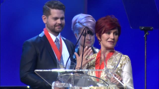 speech sharon osbourne at the 20th annual race to erase ms love to erase ms on 5/3/13 in los angeles ca - sharon osbourne stock videos & royalty-free footage