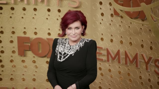 sharon osbourne at the 71st emmy awards arrivals at microsoft theater on september 22 2019 in los angeles california - emmy awards stock videos & royalty-free footage