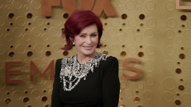 sharon osbourne at the 71st emmy awards - arrivals at microsoft theater on september 22, 2019 in los angeles, california. - シャロン オズボーン点の映像素材/bロール