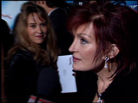 Sharon Osbourne at the 'Die Another Day' Premiere at the Shrine Auditorium in Los Angeles California on November 11 2002