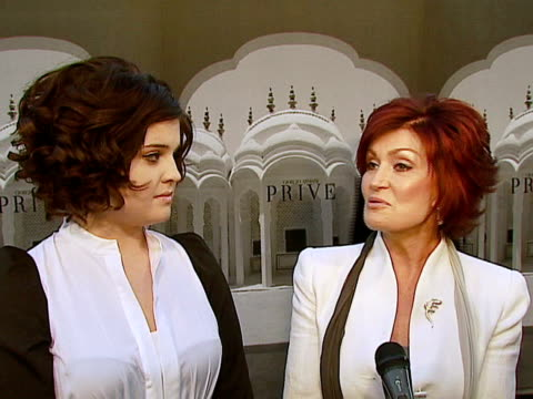 sharon osbourne at the giorgio armani celebrates 'the oscars' with exclusive prive show at beverly hills california - sharon osbourne stock videos & royalty-free footage