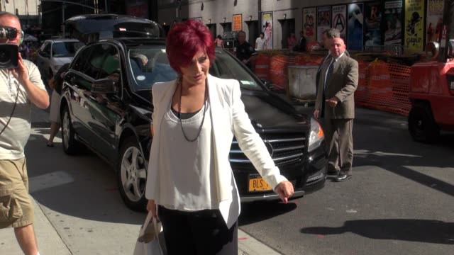 Sharon Osbourne at the 'Late Show with David Letterman' studio in New York NY on 08/27/12